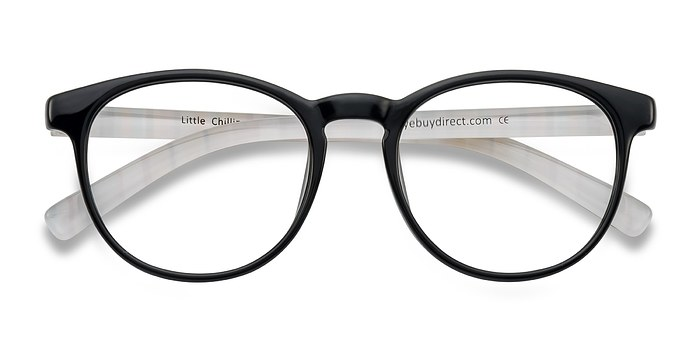 Clear/Black Little Chilling -  Classic Plastic Eyeglasses