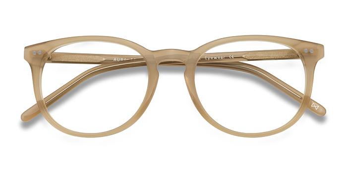 Matte Champagne Aura -  Designer Acetate Eyeglasses