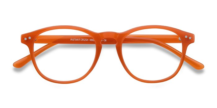 Orange Instant Crush -  Colorful Plastic Eyeglasses
