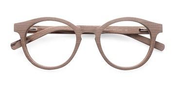 Beige Breeze -  Classic Wood Texture Eyeglasses