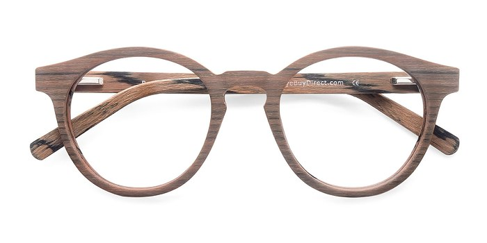 Brown Breeze -  Classic Wood Texture Eyeglasses