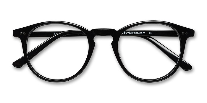 Black  Kyoto -  Geek Acetate Eyeglasses