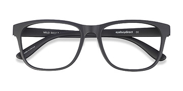 Matte Black Milo -  Fashion Plastic Eyeglasses
