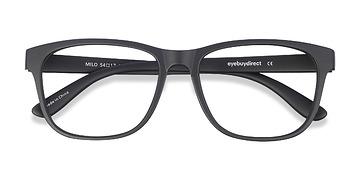 Matte Black Milo -  Fashion Plastic Eyeglasses