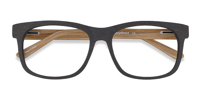 Black White Pine -  Wood Texture Eyeglasses