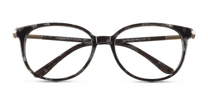 Gray Floral Jasmine -  Colorful Acetate Eyeglasses