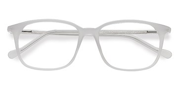 Clear White The Bay -  Acetate Eyeglasses