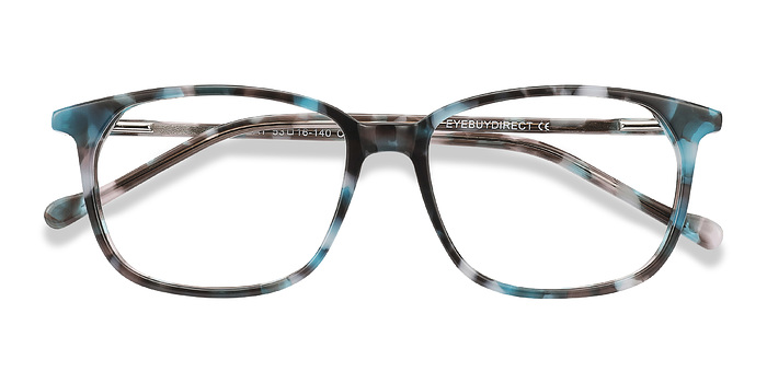 Blue Floral The Bay -  Acetate Eyeglasses