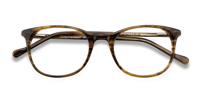 Brown Peppermint -  Acetate Eyeglasses