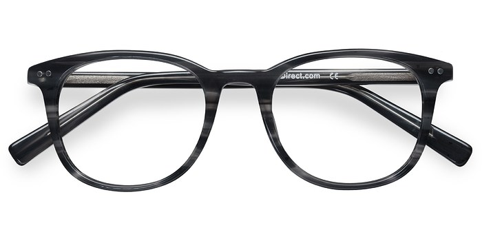 Gray Striped  Demain -  Acetate Eyeglasses