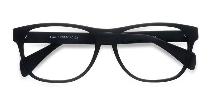 Matte Black Leon -  Acetate Eyeglasses