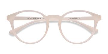 Clear White Bright Side -  Classic Plastic Eyeglasses