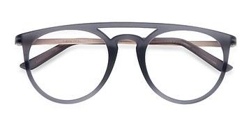 Matte Gray  Fiasco -  Metal Eyeglasses