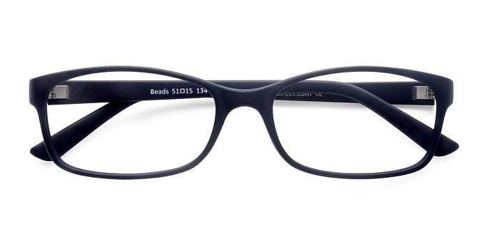 Matte Navy Beads -  Classic Plastic Eyeglasses