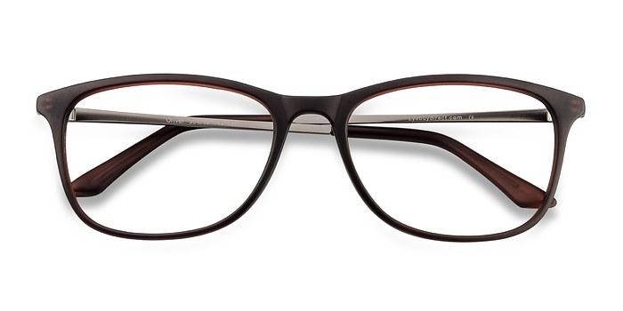 Matte Brown Oliver -  Plastic Eyeglasses