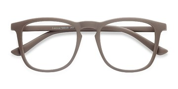 Light Brown  Central -  Plastic Eyeglasses