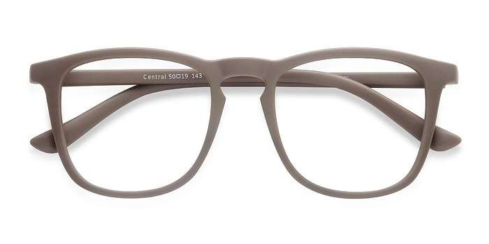 Light Brown  Central -  Plastique Lunettes de Vue
