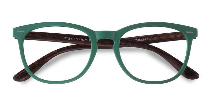 Green Little Yolo -  Geek Plastic Eyeglasses