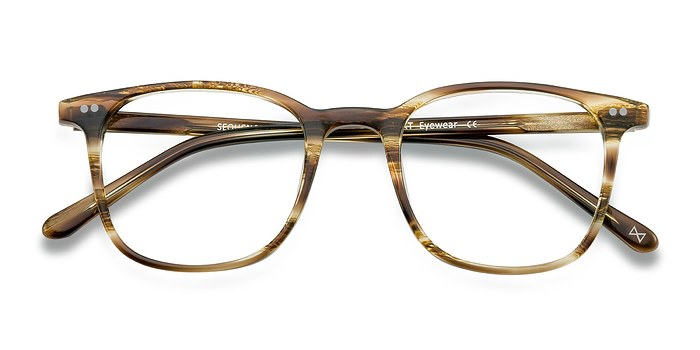 Striped Amber Sequence -  Acetate Eyeglasses