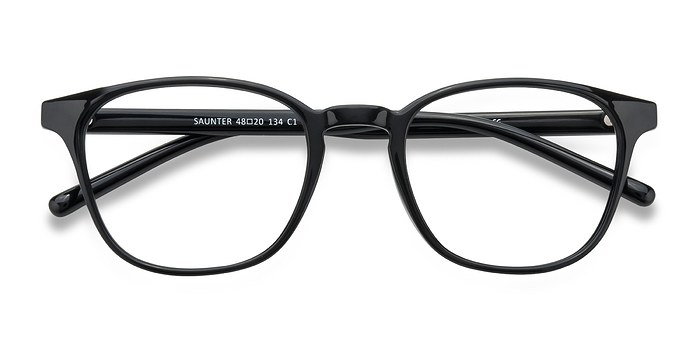 Black Saunter -  Plastic Eyeglasses