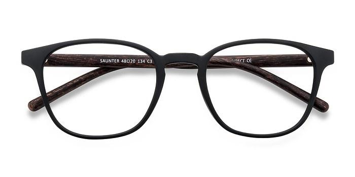 Matte Black Saunter -  Plastic Eyeglasses