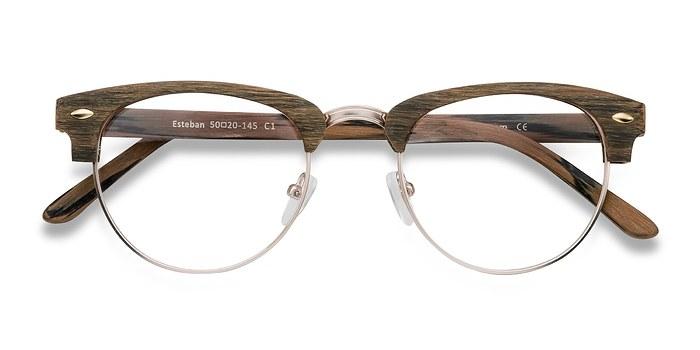 Brown Esteban -  Fashion Wood Texture Eyeglasses
