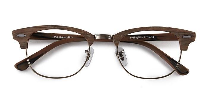 Brown Sweet Jane -  Fashion Wood Texture Eyeglasses