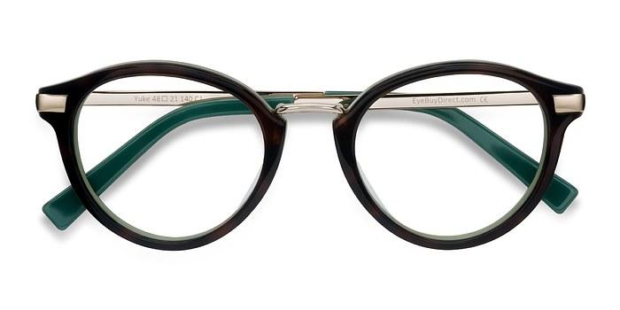 Tortoise Green Yuke -  Designer Acetate Eyeglasses