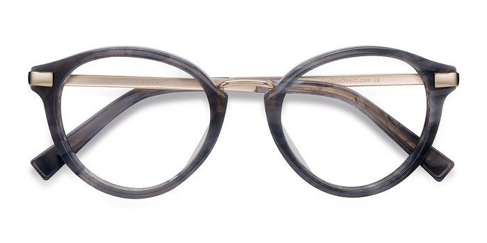 Dark Gray Yuke -  Designer Acetate Eyeglasses