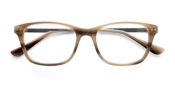 Brown Striped Hudson -  Fashion Acetate Eyeglasses