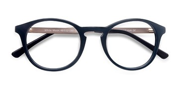 Navy White Moon -  Acetate Eyeglasses