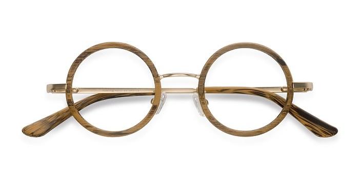 Brown Roaring -  Designer Wood Texture Eyeglasses