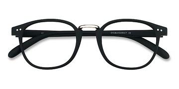 Matte Black Miyoshi -  Vintage Metal Eyeglasses