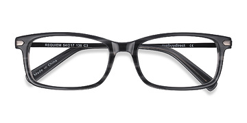 Gray Striped Requiem -  Acetate Eyeglasses