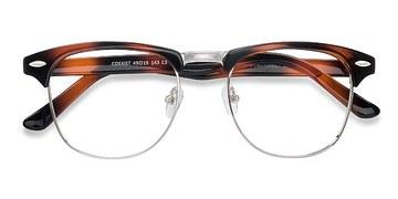 Tortoise Coexist -  Vintage Metal Eyeglasses