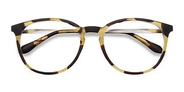 Light Tortoise Gracious -  Metal Eyeglasses