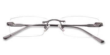 Gunmetal Courtney -  Lightweight Metal Eyeglasses