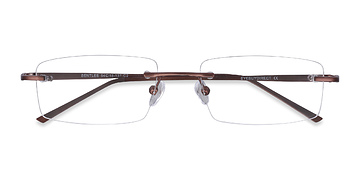 Coffee Bentlee -  Lightweight Metal Eyeglasses