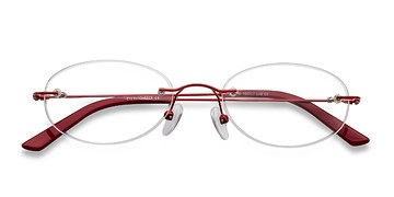 Red Ali -  Lightweight Metal Eyeglasses