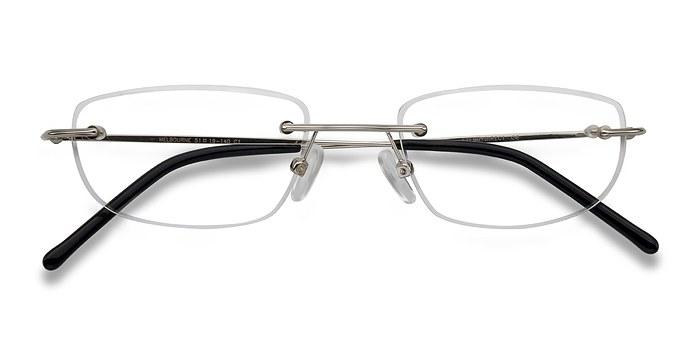 Glasses Frames Melbourne : Melbourne Silver Metal Eyeglasses EyeBuyDirect