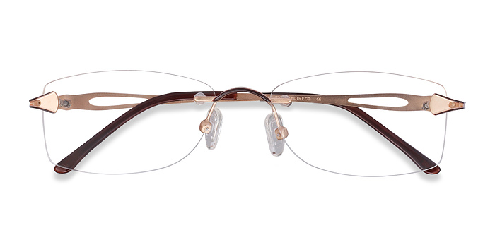 Golden/Brown Rivet -  Lightweight Metal Eyeglasses