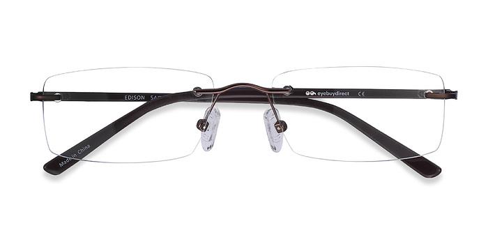 Brown Edison -  Lightweight Metal Eyeglasses