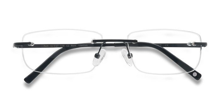 Black Port -  Lightweight Titanium Eyeglasses