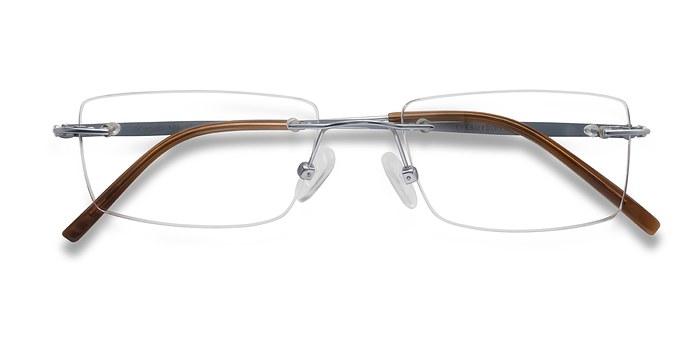 Silver Wheeler -  Lightweight Titanium Eyeglasses