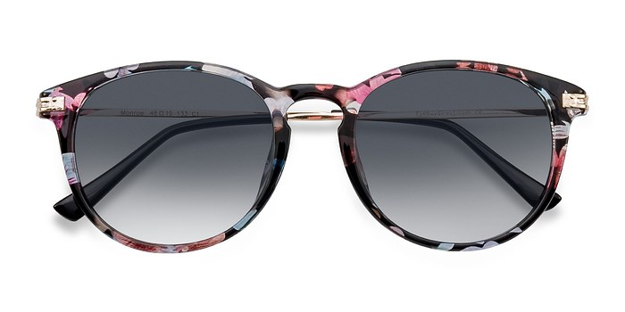 Pink/Floral Monroe -  Plastic Sunglasses