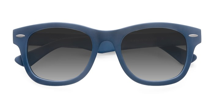Matte Blue Hanoi -  Acetate Sunglasses