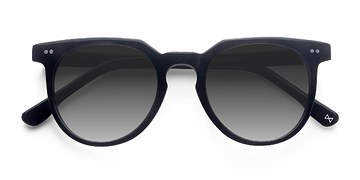 Jet Black Shadow -  Vintage Acetate Sunglasses