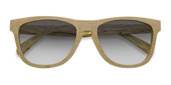 Yellow Malibu -  Wood Texture Sunglasses