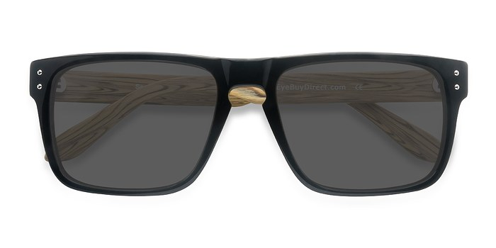 Black Yellow Sergi -  Acetate Sunglasses