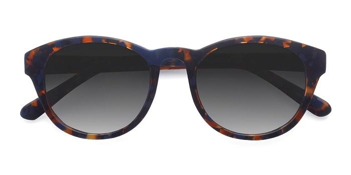 Blue Floral Coppola -  Acetate Sunglasses